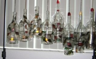 my new craft winechimes and glow, crafts, repurposing upcycling