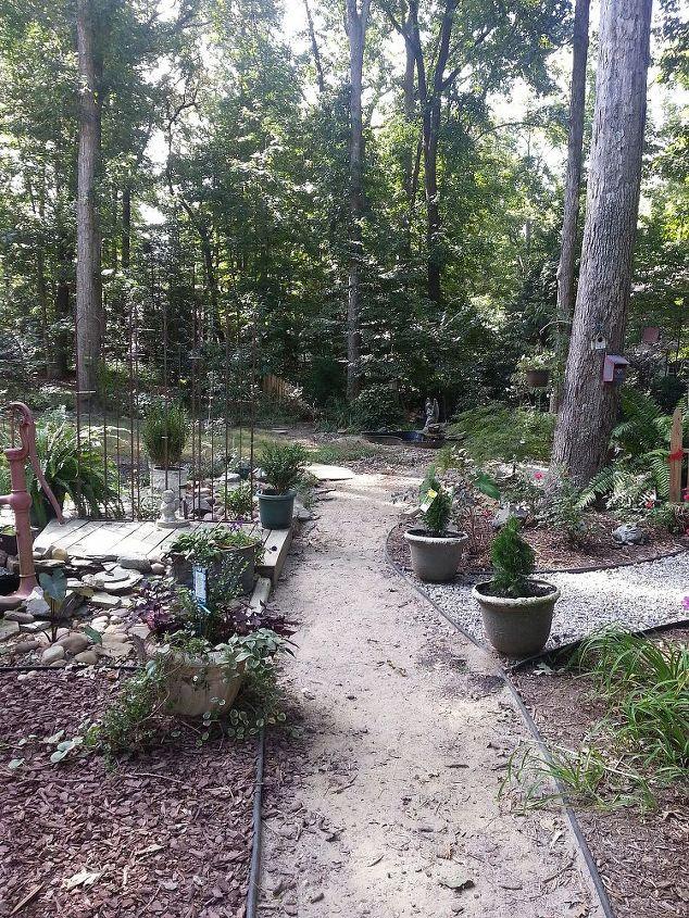 dry stream bed, gardening, landscape, outdoor living