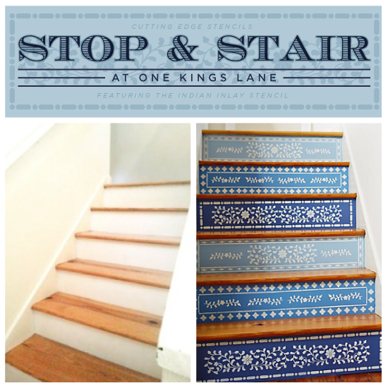 stop stair at one kings lane, painting, stairs