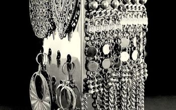 5 easy diy ways to organize jewelry, organizing, a hand grater for larger earrings
