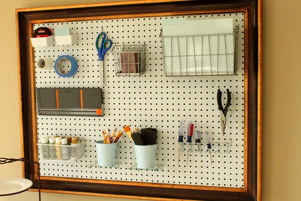 Craft Room Organizer Systems: Framed Pegboard For Your Craft Room