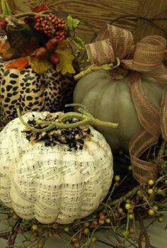fall pumpkin decorating with a twist, crafts, decoupage, repurposing upcycling, seasonal holiday decor