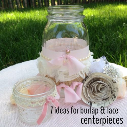 Diy wedding centerpieces hometalk diy wedding centerpieces crafts mason jars burlap lace mason jars wedding centerpieces junglespirit Images