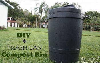 diy trash can compost bin, composting, gardening, go green