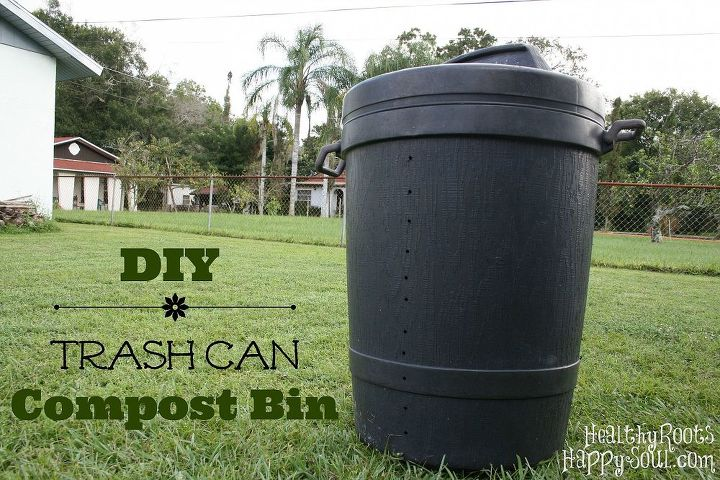 diy trash can compost bin, composting, gardening, go green
