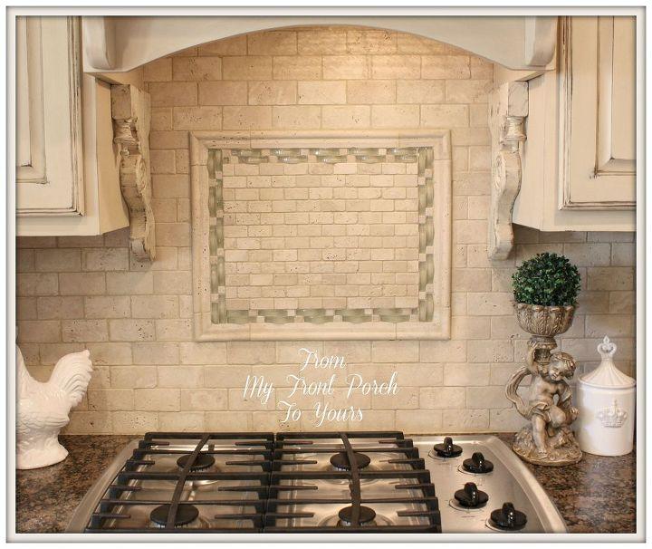Diy Kitchen Makeover Backsplash Design Island Painting Travertine Tile Back Splash