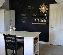 how to make a chalkboard wall in your home office craft room, chalkboard paint, craft rooms, crafts, home office, paint colors, painting, wall decor, Chalkboard wall in the home office craft room