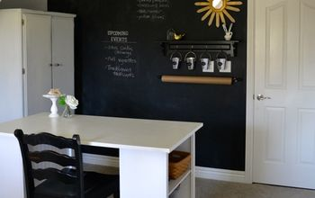 How-to Make a Chalkboard Wall in Your Home Office/Craft Room