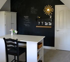 Chalkboard Wall Part - 31: How To Make A Chalkboard Wall In Your Home Office Craft Room, Chalkboard  Paint,