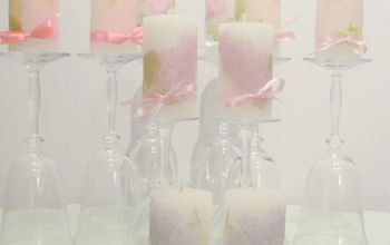 personalised candles decoupage on candles, crafts, decoupage