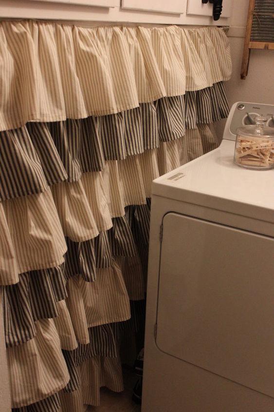 How to Make a CUTE Ruffled Drape & Shower Curtain | Hometalk
