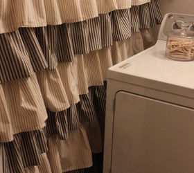 How To Make A Cute Ruffled Drape Shower Curtain Inspiredby, Crafts, Laundry  Rooms