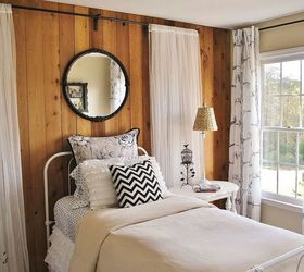 Girls Budget Bedroom Makeover, Bedroom Ideas, Home Decor, Working Around  Existing Wood Paneled