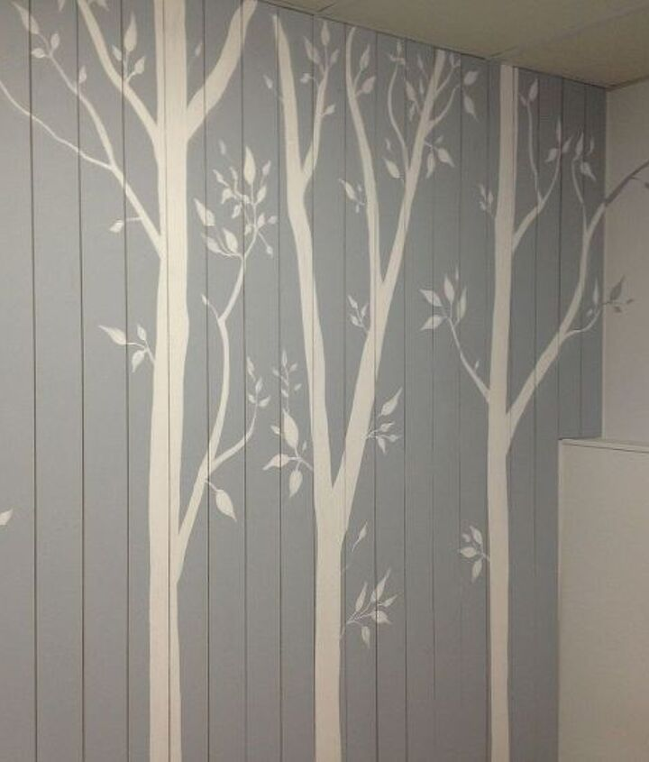 """feature wall"". took the paint over to the next wall but in the opposite colour… this is probably my favourite part!"