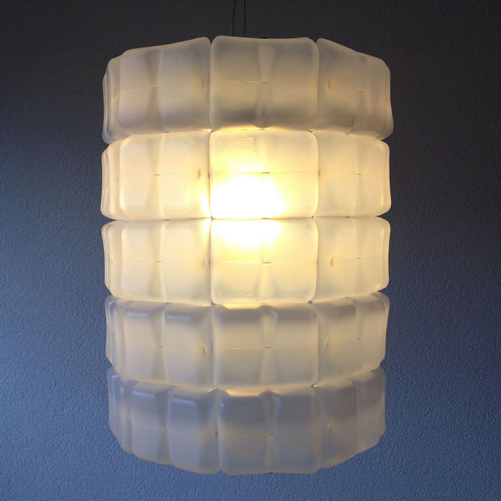 diy how to make your own upcycle milkdrum lampshade, lighting, repurposing upcycling, DIY The finished MilkDrum lampshade