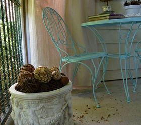 My New Shabby Chic Porch From Some Discarded Items, Curb Appeal, Home Decor,