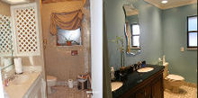 kicking the 80 s out of guest bath, bathroom ideas, home improvement, Yes This is the same bathroom Hard to believe huh
