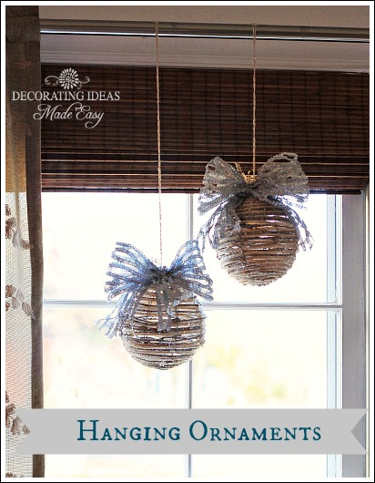 easy christmas decorating ideas, seasonal holiday d cor, Here I hung two large Christmas ornaments from my curtain rod in my bedroom