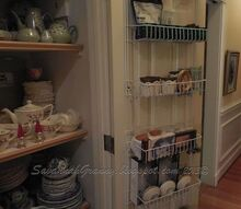 what s in your closet my closet conversion, closet, shelving ideas, storage ideas, I got so excited about putting my dishes in I waited about painting the trim I have since calked and painted the trim