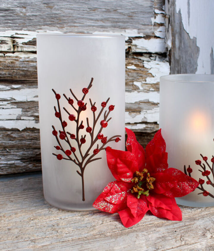Etched Candle Holders for the holidays.