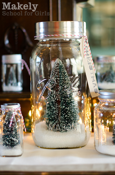 christmas tree snow jars in 4 easy steps, christmas decorations, crafts, mason jars, repurposing upcycling, seasonal holiday decor, 1 I began by washing and drying left over jars from food prep I spray painted all of the lids with a metallic silver spray paint