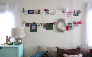 diy hanging collage christmas style, crafts, seasonal holiday decor, wreaths, Fill up a blank wall space with this easy hanging collage for Christmas