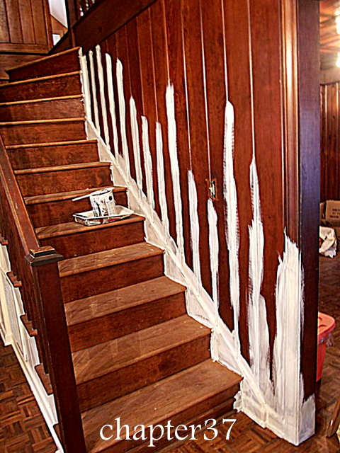 everything you ever wanted to know about painting wood paneling, home maintenance repairs, how to, paint colors, painting, wall decor, cutting in all the cracks between boards