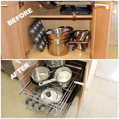Before And After Using The Rev A Shelf
