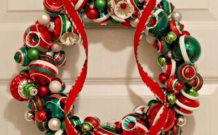 christmas ornament wreath, christmas decorations, crafts, seasonal holiday decor, wreaths
