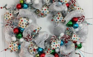 whimsical christmas wreath, christmas decorations, crafts, seasonal holiday decor, wreaths, I spray painted my wreath white then started adding all the Christmas decorations