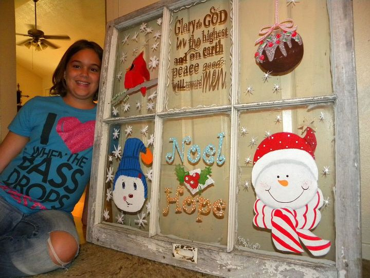 We finished our Christmas window decoration. It was a lot of fun.