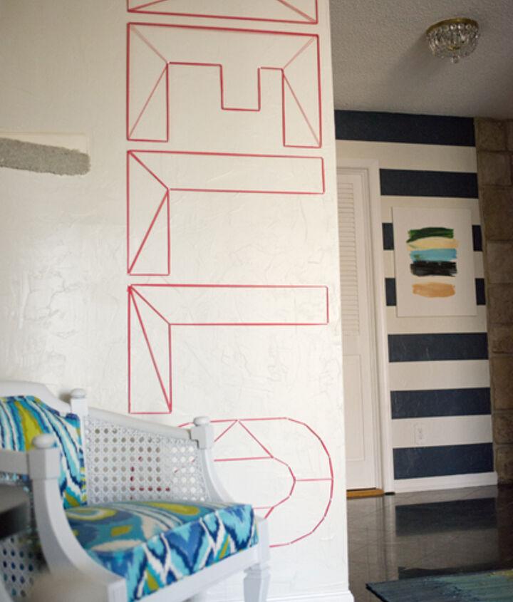 hello modern wall art, crafts, foyer, home decor, wall decor