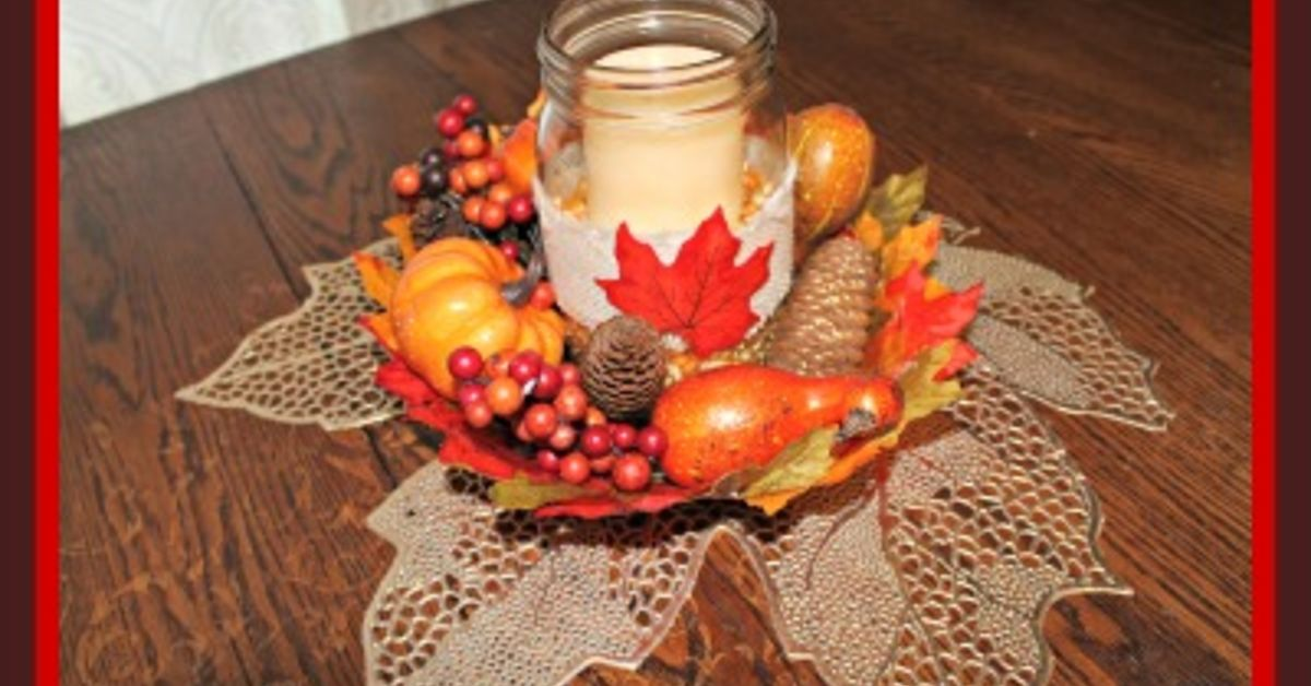 Thanksgiving Centerpiece Craft For The