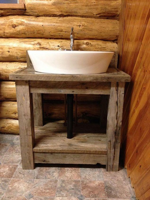 Reclaimed Wood Bathroom Vanity Hometalk