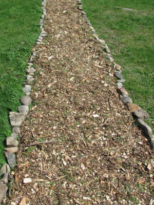 3 pathways for 30, homesteading, landscape, The end result 3 beautiful walkways that fit into our landscape perfectly only 10 a piece