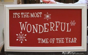 diy holiday sign pottery barn inspired easy inexpensive, chalk paint, crafts, painting, seasonal holiday decor, Finished sign held up for the picture courtesy of my fabulous husband