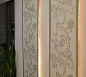 Diy Lighted Wall Panel, Dining Room Ideas, Home Decor, Lighting, Wall Decor