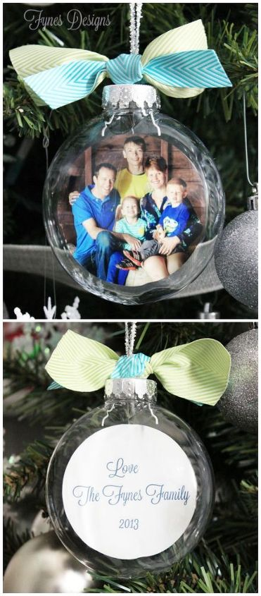 These photo ornaments make a lovely *cheap* gift to give Grandma, Aunts/ Uncles or close neighbours and friends.