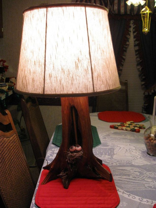 handmade lamp, diy, lighting, woodworking projects, Another Handmade Lamp I ve Created