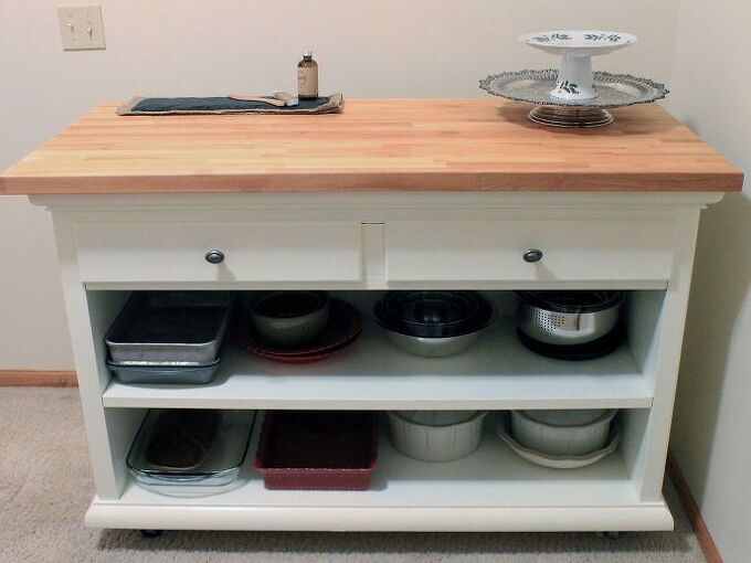 country kitchen island bar, diy, how to, kitchen design, kitchen island, painted furniture, woodworking projects, This is my re purposed country kitchen island bar