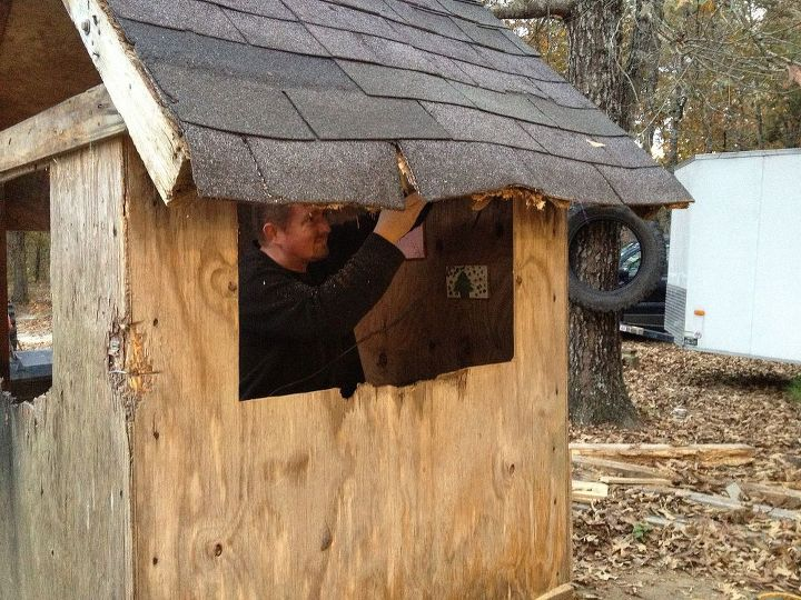 no cost pallet playhouse, diy, outdoor living, pallet, repurposing upcycling, woodworking projects