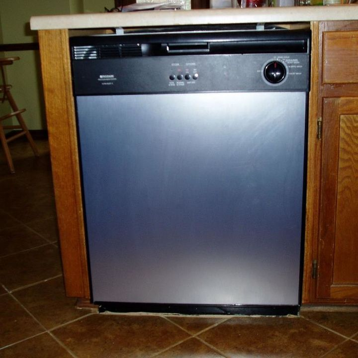 "After: ""New"" stainless steel dishwasher"