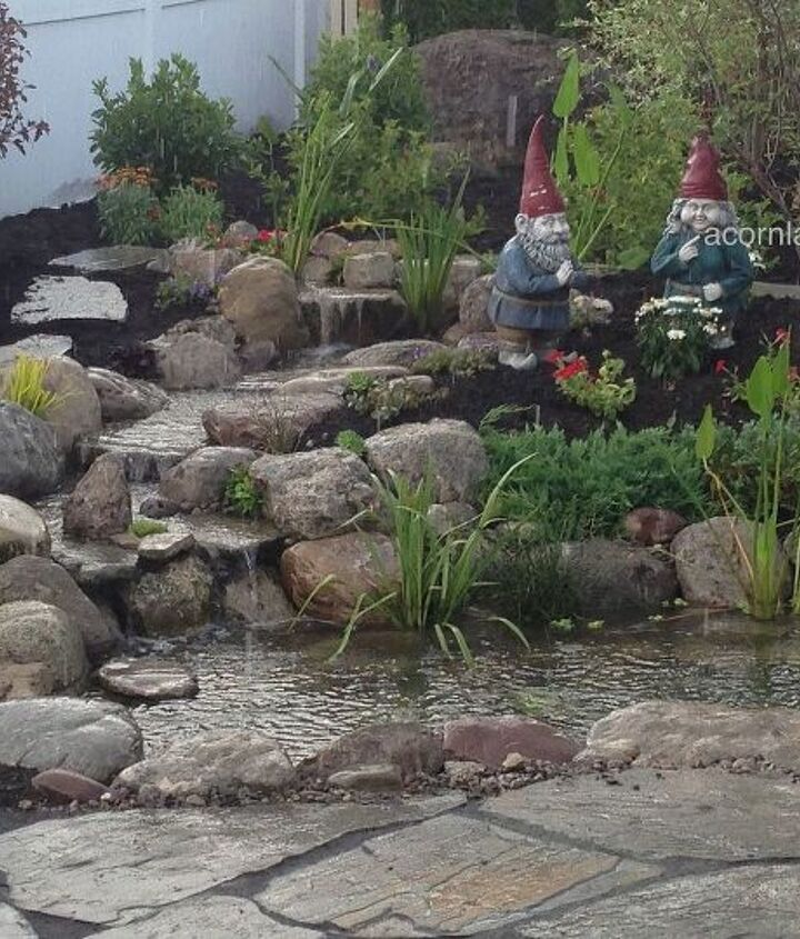 Check out this gorgeous backyard ecosystem fishpond we did in Brighton NY, Monroe County. It has LED landscape lighting, plantings and more. We used an Aquascape filtration system to ensure highest quality of clear water.