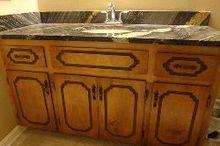 bathroom vanity, bathroom ideas, diy, painted furniture, Router groove in 1980 s vanity doors