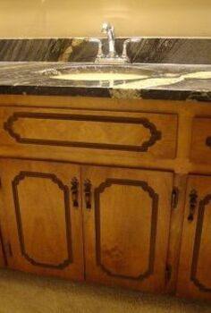 bathroom vanity, bathroom ideas, diy, painted furniture, Router groove in 1980 s vanity doors