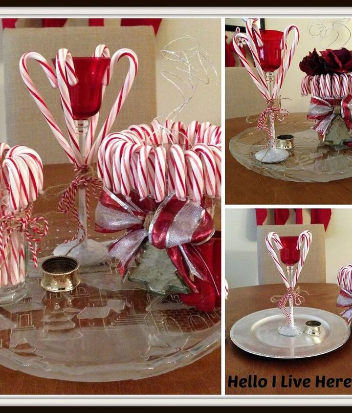 Final project - DIY Candy Cane Candle from Hello I Live Here.