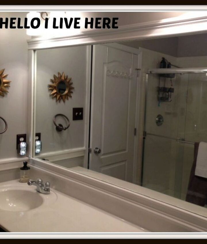 Framing Bathroom Mirrors from Hello I Live Here