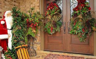 a southern style christmas garden tour on christmas eve, gardening, seasonal holiday d cor