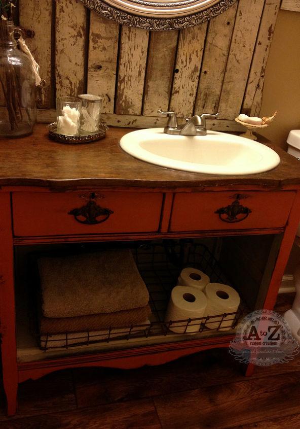 Diy dresser vanity for a small bath hometalk - Bathroom vanities from old dressers ...