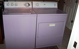 my purple washer dryer finally done, appliances, painting, my love of purple